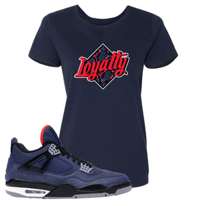 Jordan 4 WNTR Loyal Blue Loyalty Navy Sneaker Hook Up Women's T-Shirt