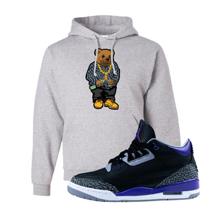 Air Jordan 3 Court Purple Hoodie | Sweater Bear, Ash