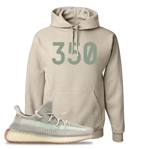 Yeezy Boost 350 V2 Citrin Non-Reflective 350 Sandstone Sneaker Matching Pullover Hoodie