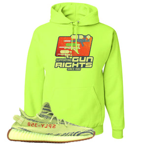Water Soaker Safety Green Pullover Hoodie to match Yeezy Boost 350 V2 Frozen Yellow Sneaker