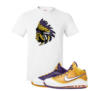 Lebron 7 'Media Day' T Shirt | White, Indian Chief