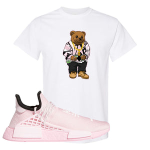 NMD Hu Tonal Pink T Shirt | Sweater Bear, White