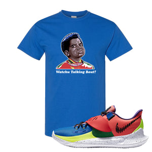 Kyrie Low 3 NY vs NY T Shirt | Watchu Talking Bout, Royal Blue