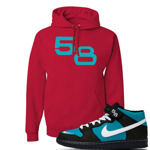 SB Dunk Mid 'Griffey' Hoodie | Red, 58