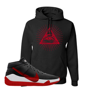 KD 13 Bred Hoodie | All Seeing Eye, Black
