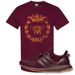 Royal Bee Leaf Maroon T-Shirt to match Ivy Park X Adidas Ultra Boost Sneaker