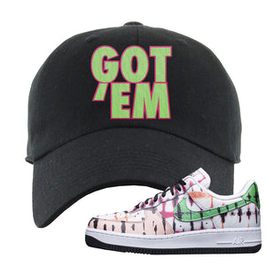 Air Force 1 Low Multi-Colored Tie-Dye Dad Hat | Black, Got Em