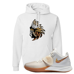Kyrie Flytrap 3 Summit White Hoodie | Indian Chief, White