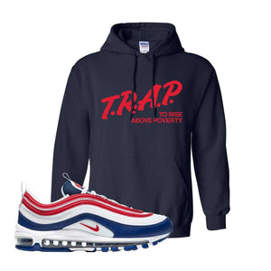 Air Max 97 USA Hoodie | Navy Blue, Trap To Rise Above Poverty