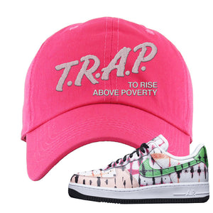 Air Force 1 Low Multi-Colored Tie-Dye Dad Hat | Pink, Trap To Rise Above Poverty