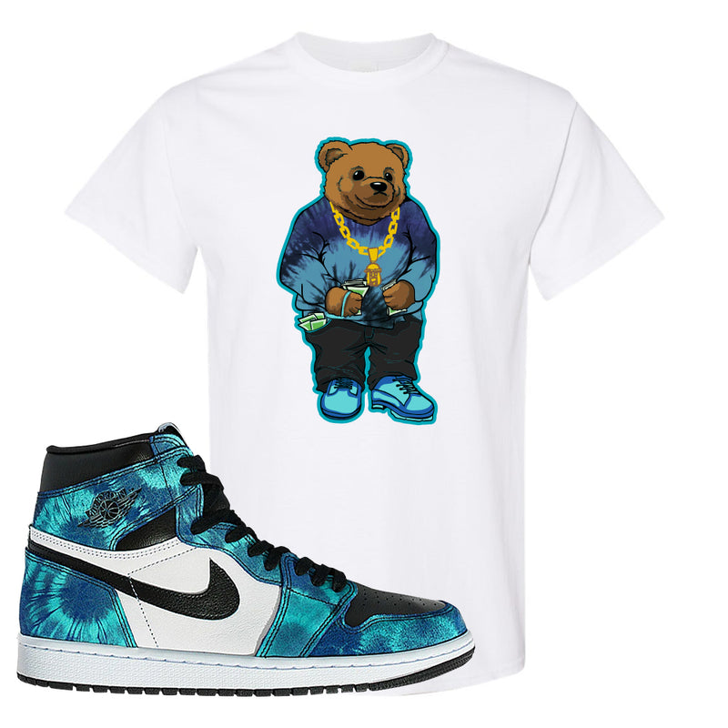 Air Jordan 1 WMNS 'Tie-Dye' T Shirt | White, Sweater Bear