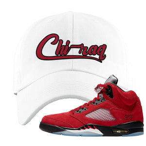 Air Jordan 5 Raging Bull Dad Hat | Chiraq, White
