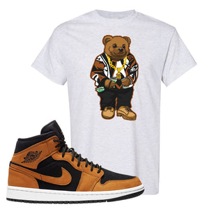 Air Jordan 1 Mid Wheat T Shirt | Sweater Bear, Ash