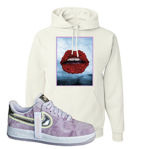 Air Force 1 P[her]spective Hoodie | White, Rose Lips