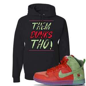 SB Dunk High 'Strawberry Cough' Hoodie | Black, Them Dunks Tho