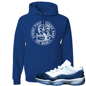 Jordan 11 Low Blue Snakeskin Cobra Snake Royal Blue Hoodie