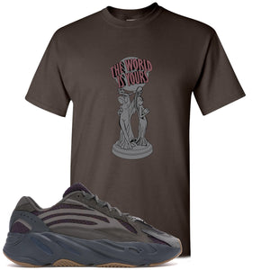 Yeezy Boost 700 Geode Sneaker Hook Up The World Is Yours Dark Chocolate T-Shirt