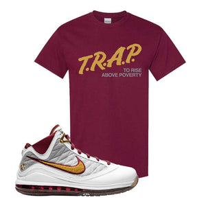LeBron 7 MVP T Shirt | Maroon, Trap To Rise Above Poverty