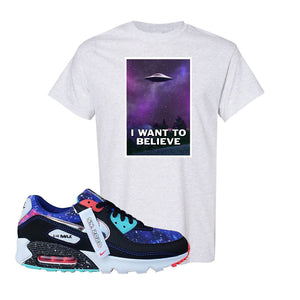 Air Max 90 Galaxy T Shirt | Ash, I Want to Believe