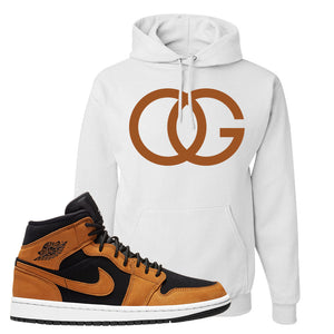 Air Jordan 1 Mid Wheat Hoodie | OG, White