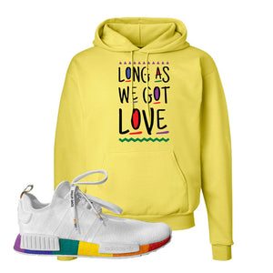 NMD R1 Pride Hoodie | Yellow, Long As We Got Love
