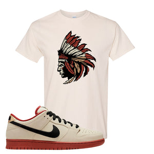 SB Dunk Low Muslin T Shirt | Indian Chief, Natural