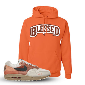 Air Max 1 Amsterdam City Pack Sneaker Retro Heather Coral Pullover Hoodie | Hoodie to match Nike Air Max 1 Amsterdam City Pack Shoes | Blessed Arch