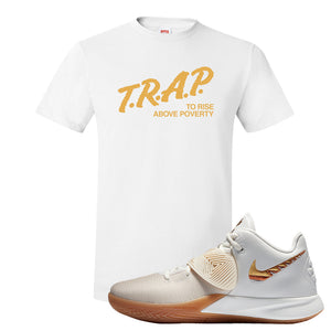 Kyrie Flytrap 3 Summit White T Shirt | Trap To Rise Above Poverty, White