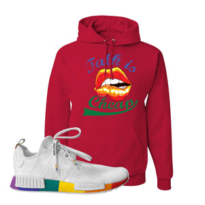 NMD R1 Pride Hoodie | Red, Talk Is Cheap