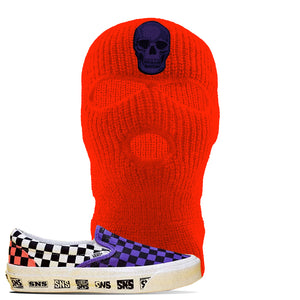 Vans Slip On Venice Beach Pack Ski Mask | Safety Orange, Skull