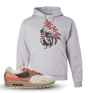Air Max 1 Amsterdam City Pack Sneaker Ash Pullover Hoodie | Hoodie to match Nike Air Max 1 Amsterdam City Pack Shoes | Indian Chief