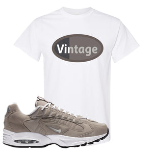 Air Max Triax 96 Grey Suede T Shirt | Vintage Oval, White