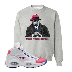 Question Mid Pink Toe Sweatshirt | Capone Illustration, Ash