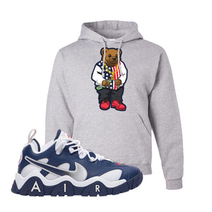 Air Barrage Low USA Hoodie | Ash, Sweater Bear
