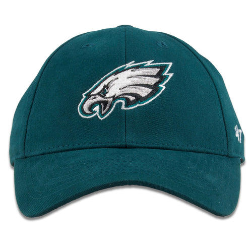 Philadelphia Eagles Youth Sized Midnight Green MVP Adjustable Velcro Strapback Dad Hat