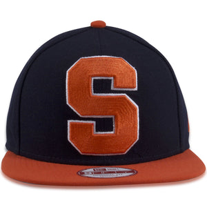Syracuse Orange XL Logo Navy Blue on Orange 9Fifty Snapback Hat
