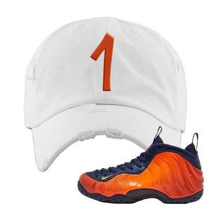 Foamposite One OKC Distressed Dad Hat | White, Penny One