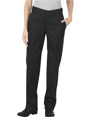 the Women's Tactical Cargo Pocket EMT Pants | Tailored Emergency Technician Cargo Pants for Women have a natural waist and straight fit