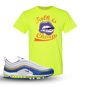Air Max 97 'Easter' Sneaker Safety Green T Shirt | Tees to match Nike Air Max 97 'Easter'Shoes | Talk is Cheap
