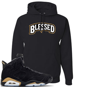 Jordan 6 DMP 2020 Sneaker Black Pullover Hoodie | Hoodie to match Nike Air Jordan 6 DMP 2020 Shoes |  Blessed Arch