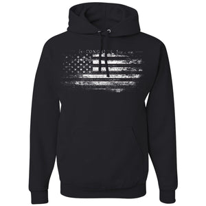 Standard Issue Constitution Distressed American Flag Black Pullover Grunt Life Hoodie