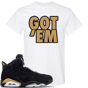 Jordan 6 DMP 2020 Sneaker White T Shirt | Tees to match Nike Air Jordan 6 DMP 2020 Shoes | Got Em
