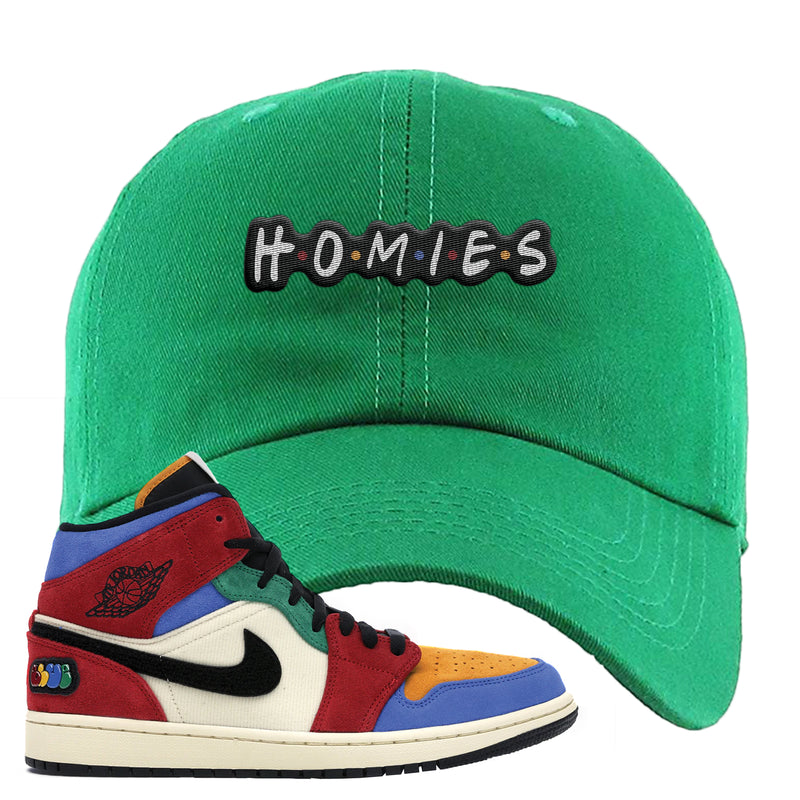 Jordan 1 X Blue The Great Dad Hat | Kelly Green, Homies