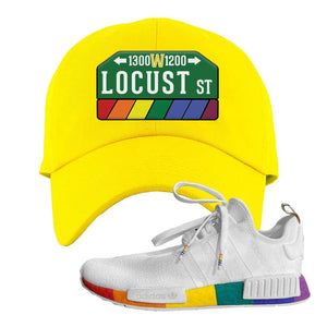 NMD R1 Pride Dad Hat | Yellow, Locust Street Sign