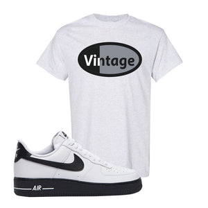 Air Force 1 Low White Black T Shirt | Ash, Vintage Oval