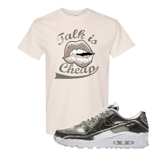 Air Max 90 WMNS 'Medal Pack' Chrome Sneaker Natural T Shirt | Tees to match Nike Air Max 90 WMNS 'Medal Pack' Chrome Shoes | Talk is Cheap