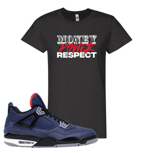 Jordan 4 WNTR Loyal Blue Money, Power, Respect Black Sneaker Hook Up Women's T-Shirt