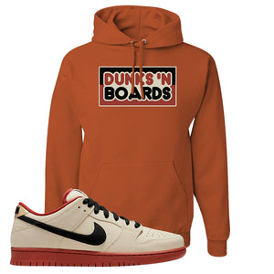 SB Dunk Low Muslin Hoodie | Dunks N Board, Texas Orange
