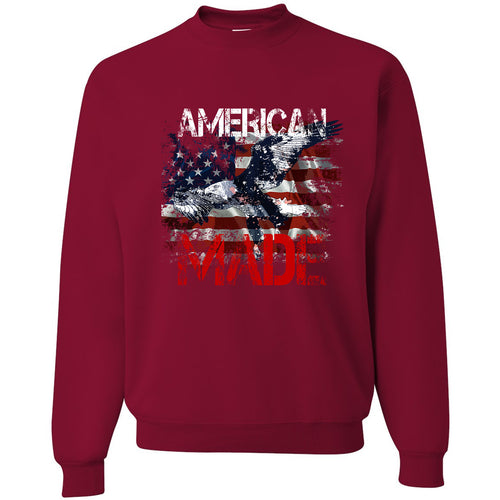 Standard Issue American Made Bald Eagle Red Grunt Life Crewneck Sweatshirt