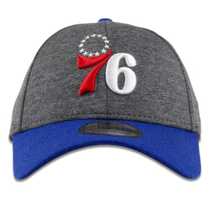 Philadelphia 76ers Dark Gray on Royal Blue 39Thirty Flexfit Cap